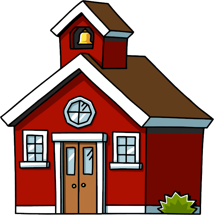 New free clipart images. School house png