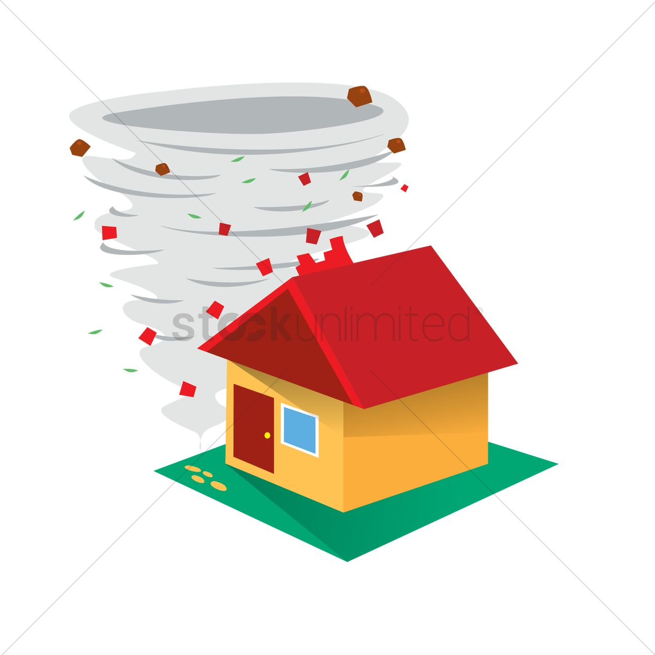 House portal . Houses clipart tornado