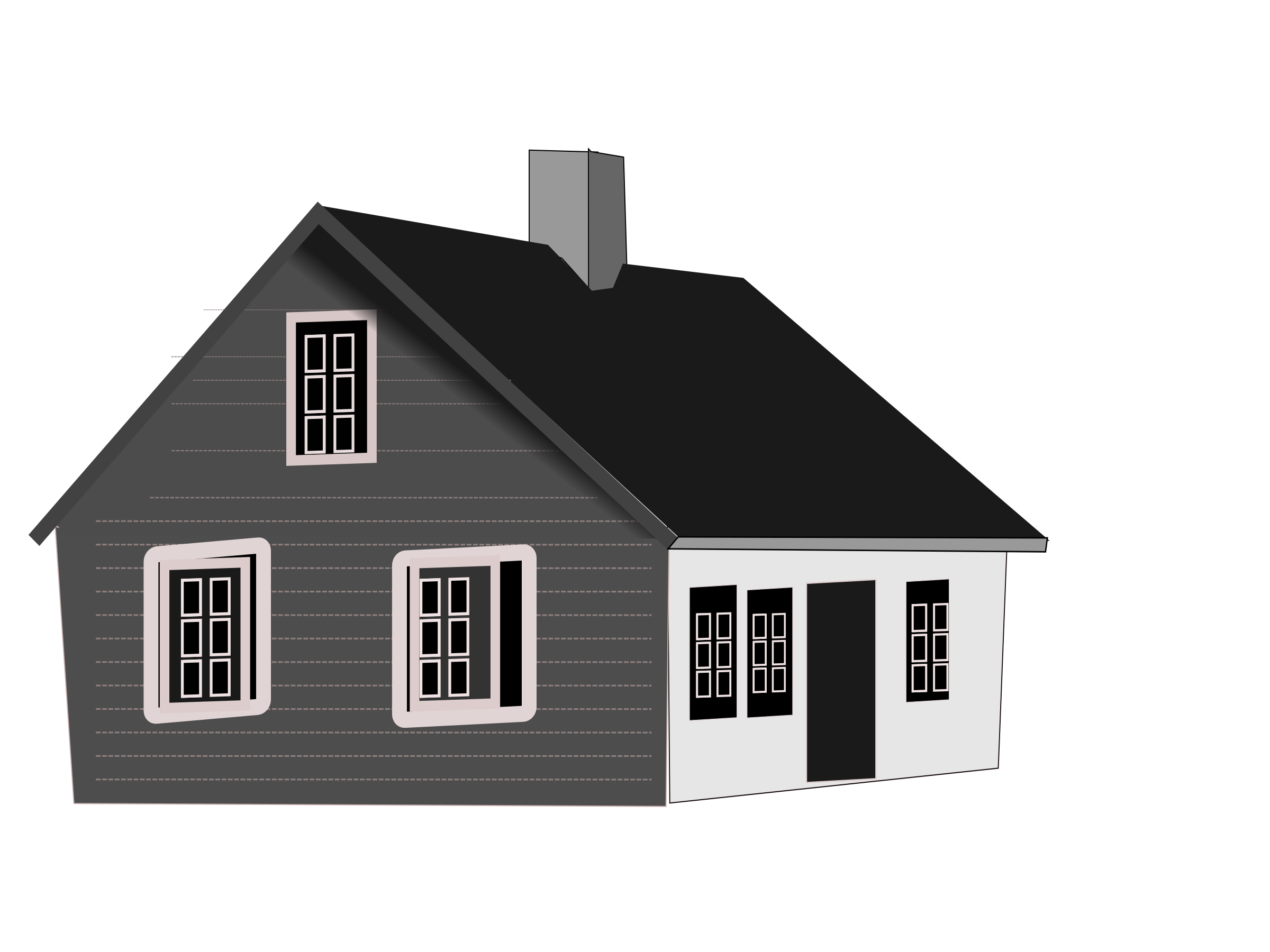 Black house png. And white transparent big