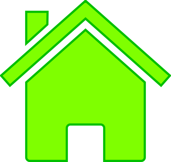 Outline with roof clip. Horse clipart house