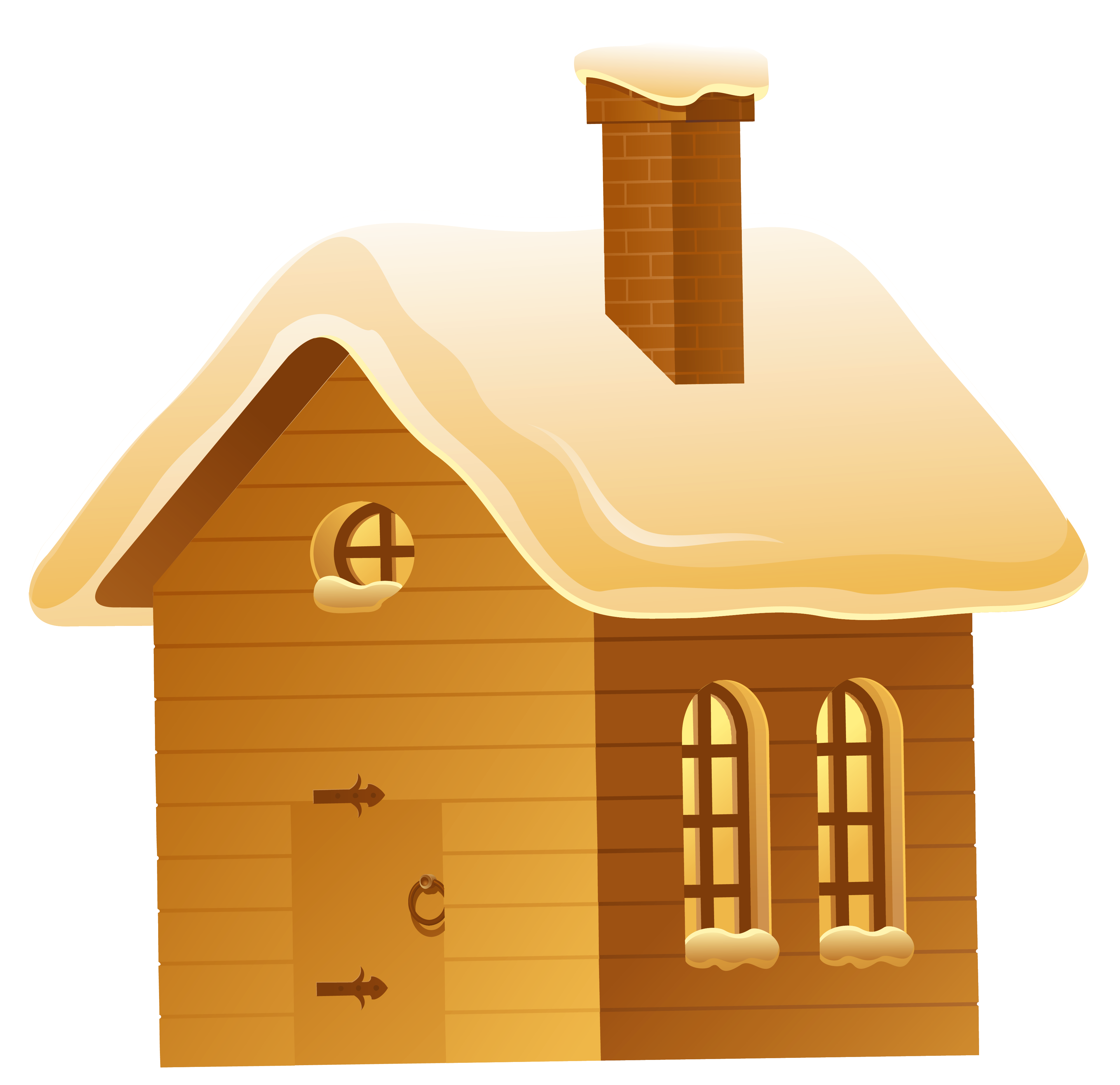 House at day and. Winter clipart night