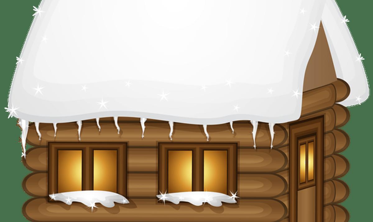 Home clipart winter. Wood house clip art