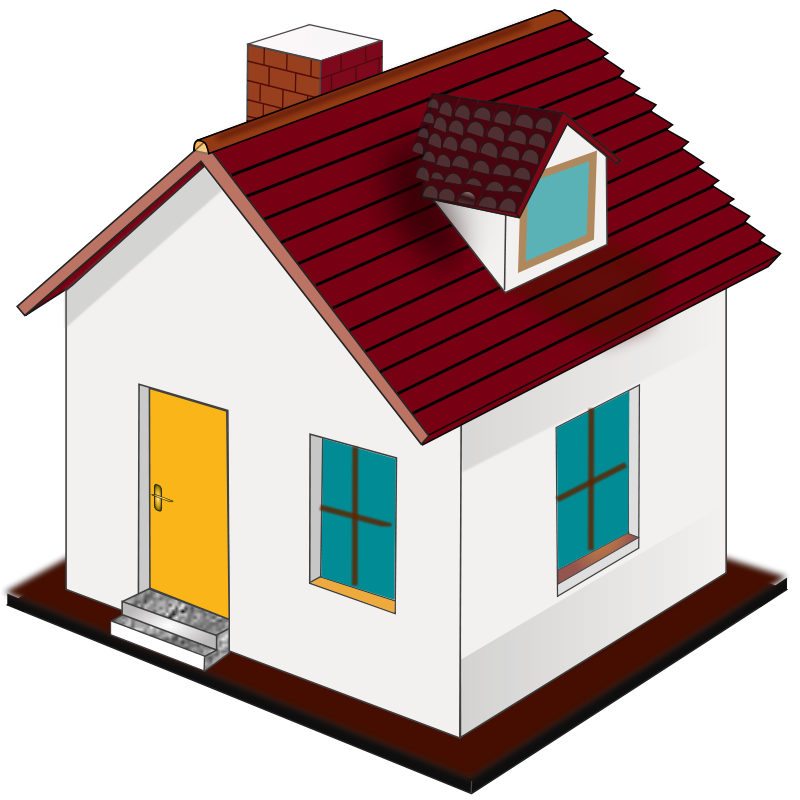 Houses clipart row. New home free download