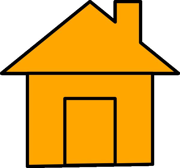 House clipart orange. Icon clip art at