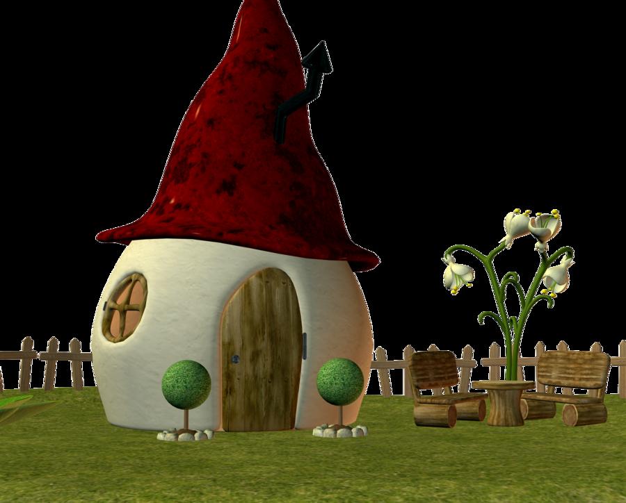 Fairy house by ecathe. Fairies clipart elf