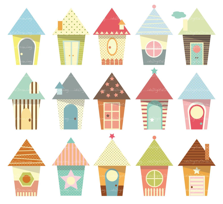 Houses clip art high. House clipart baby