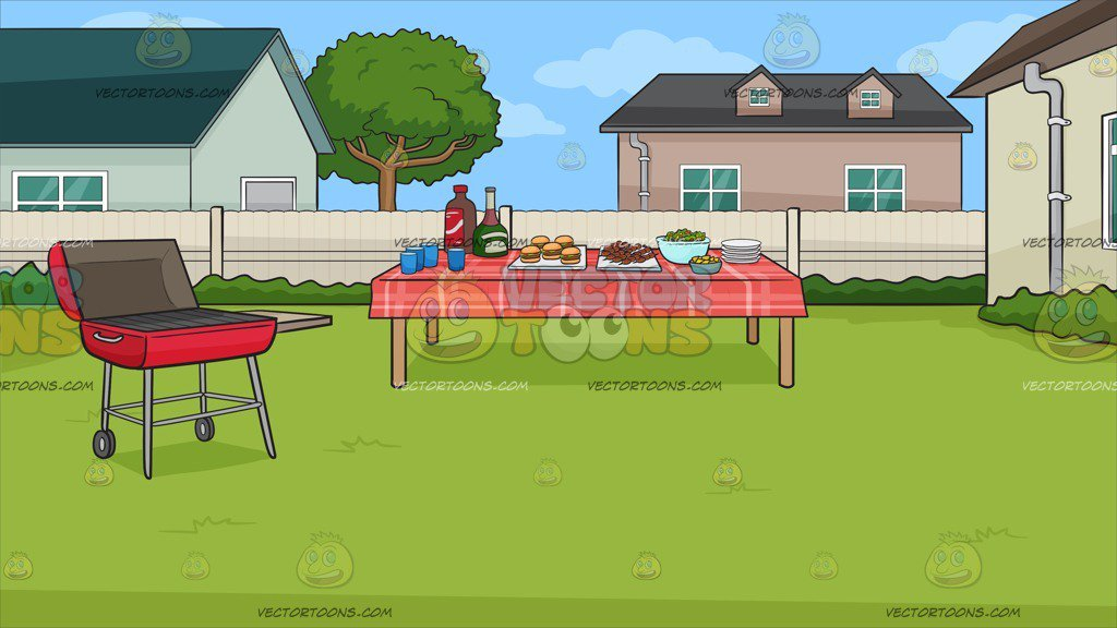 A barbecue background . Clipart houses backyard