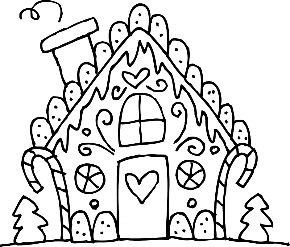 collection of house. Gingerbread clipart simple
