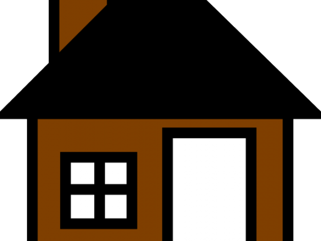 Picture of a house. Houses clipart brown