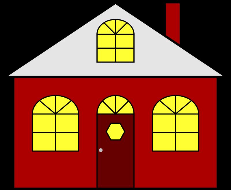 Houses group free homes. Neighborhood clipart colored house