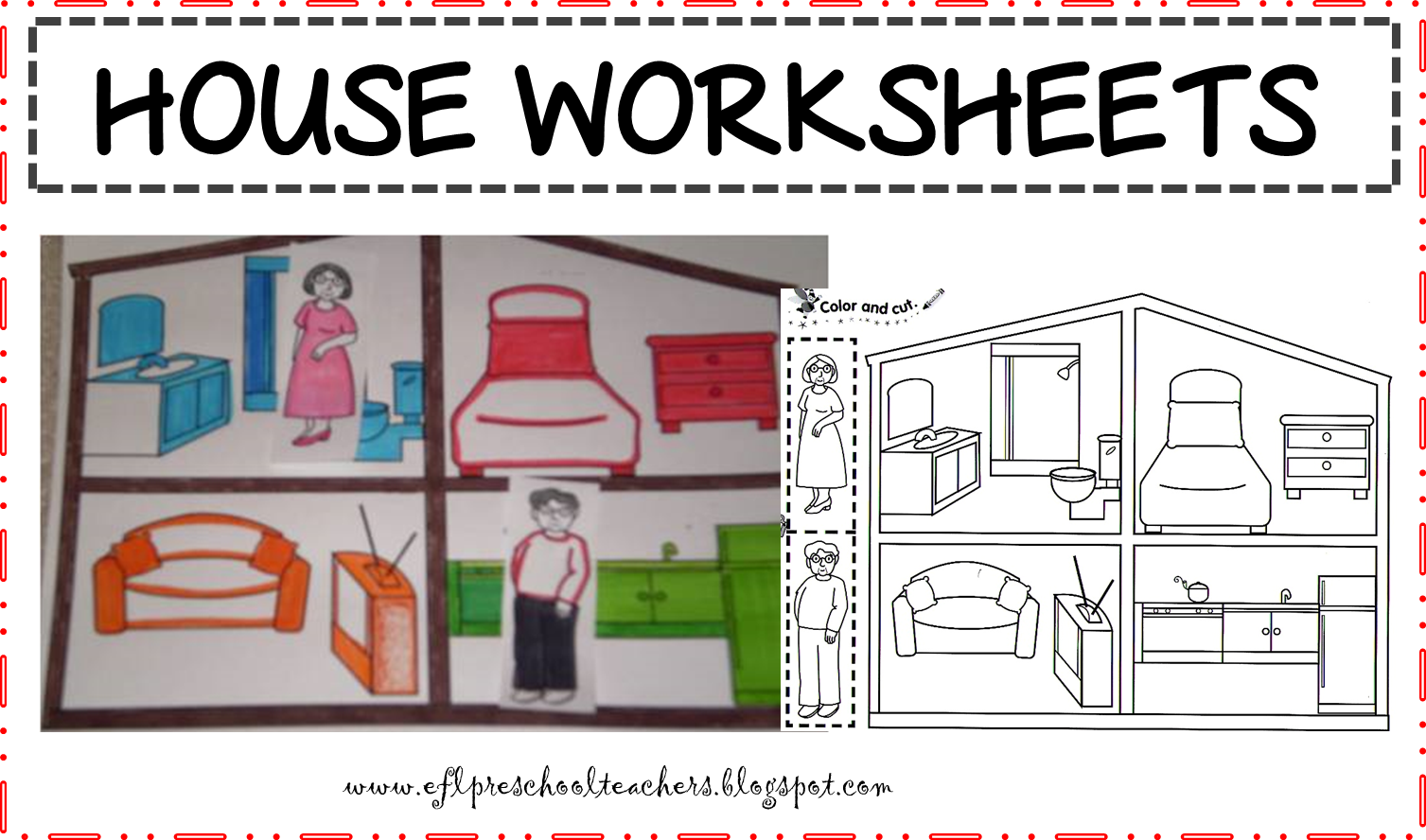 House clipart cut out. Parts of a worksheets