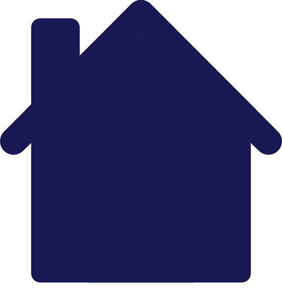 Dark blue pencil and. House clipart colored