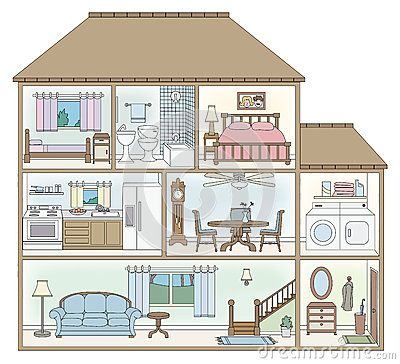 Cross section startups . House clipart diagram