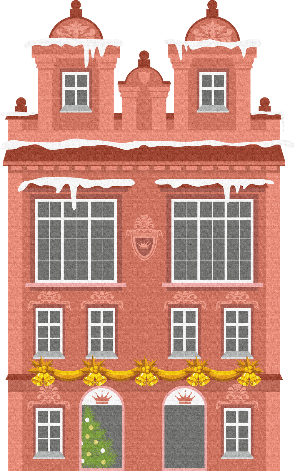 Clipart houses doodle. Sisters warehouse illustration exteriors