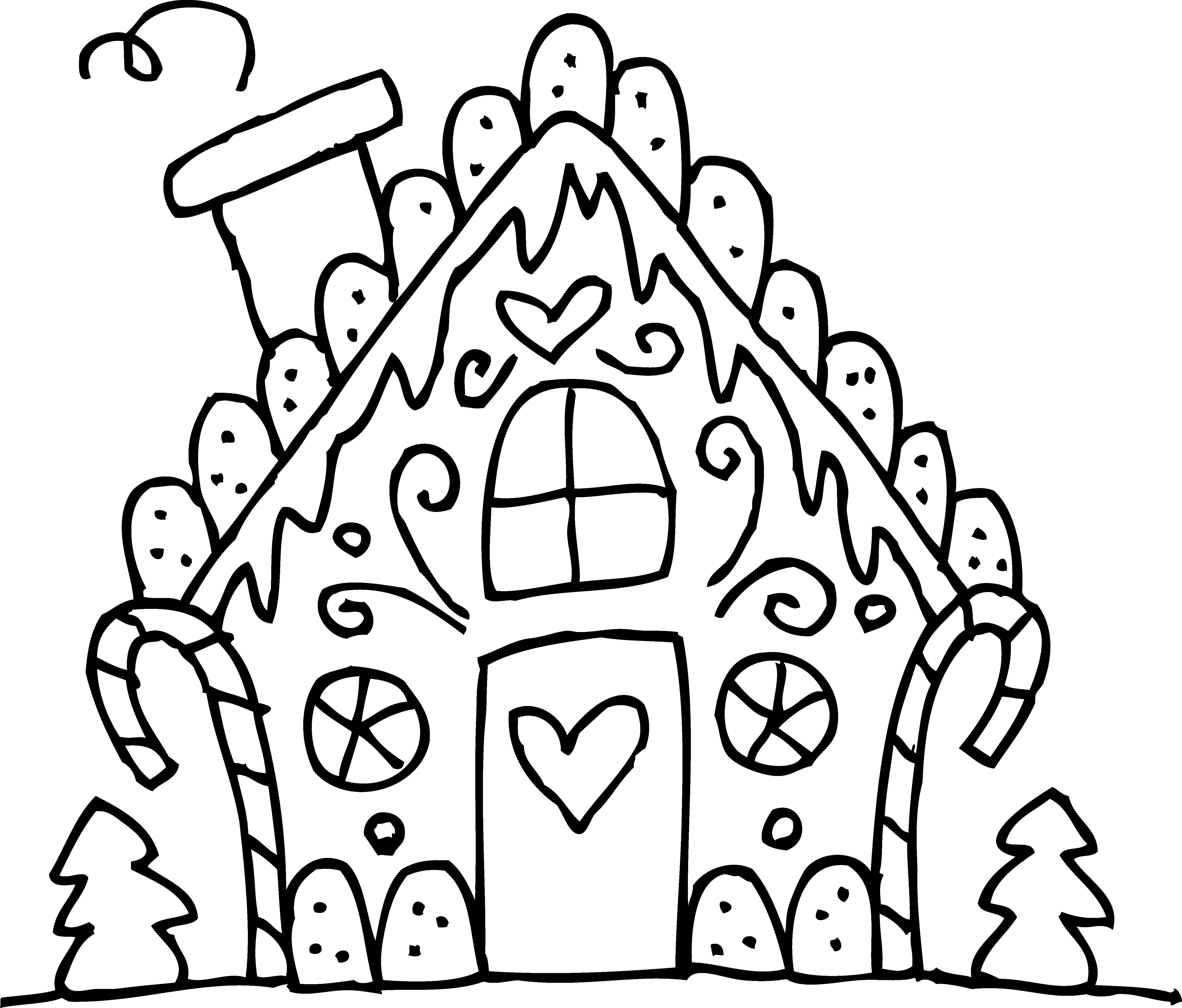 Gingerbread clipart playdough. House clip art black