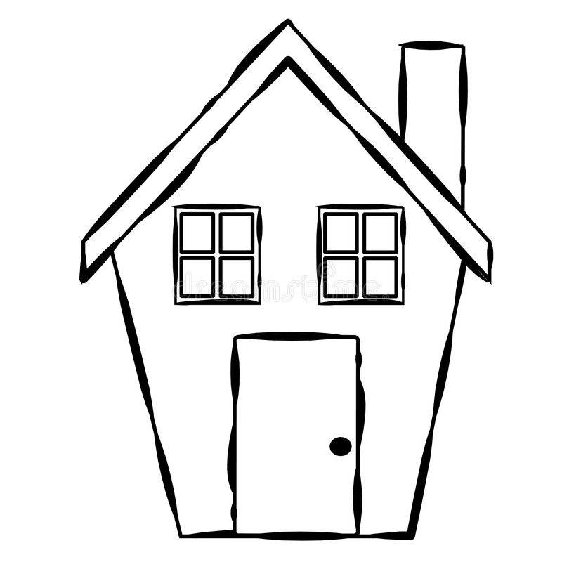 Simple house drawing free. Clipart houses easy