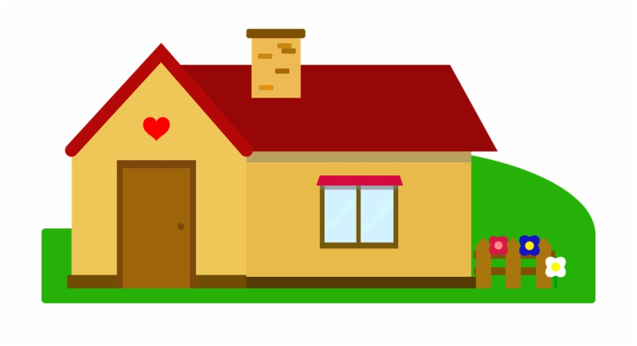 Free simple house clip. Clipart houses easy