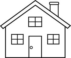 Clipart houses easy. House drawing at paintingvalley