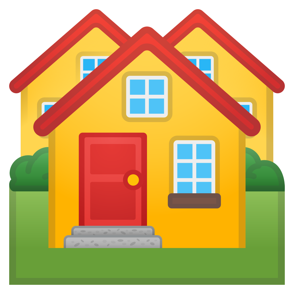 Icon noto travel places. Clipart houses emoji