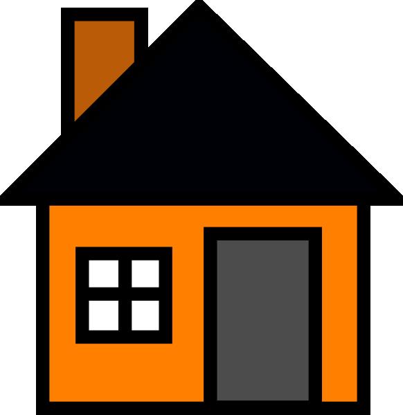 Orange House Clip Art at Clker