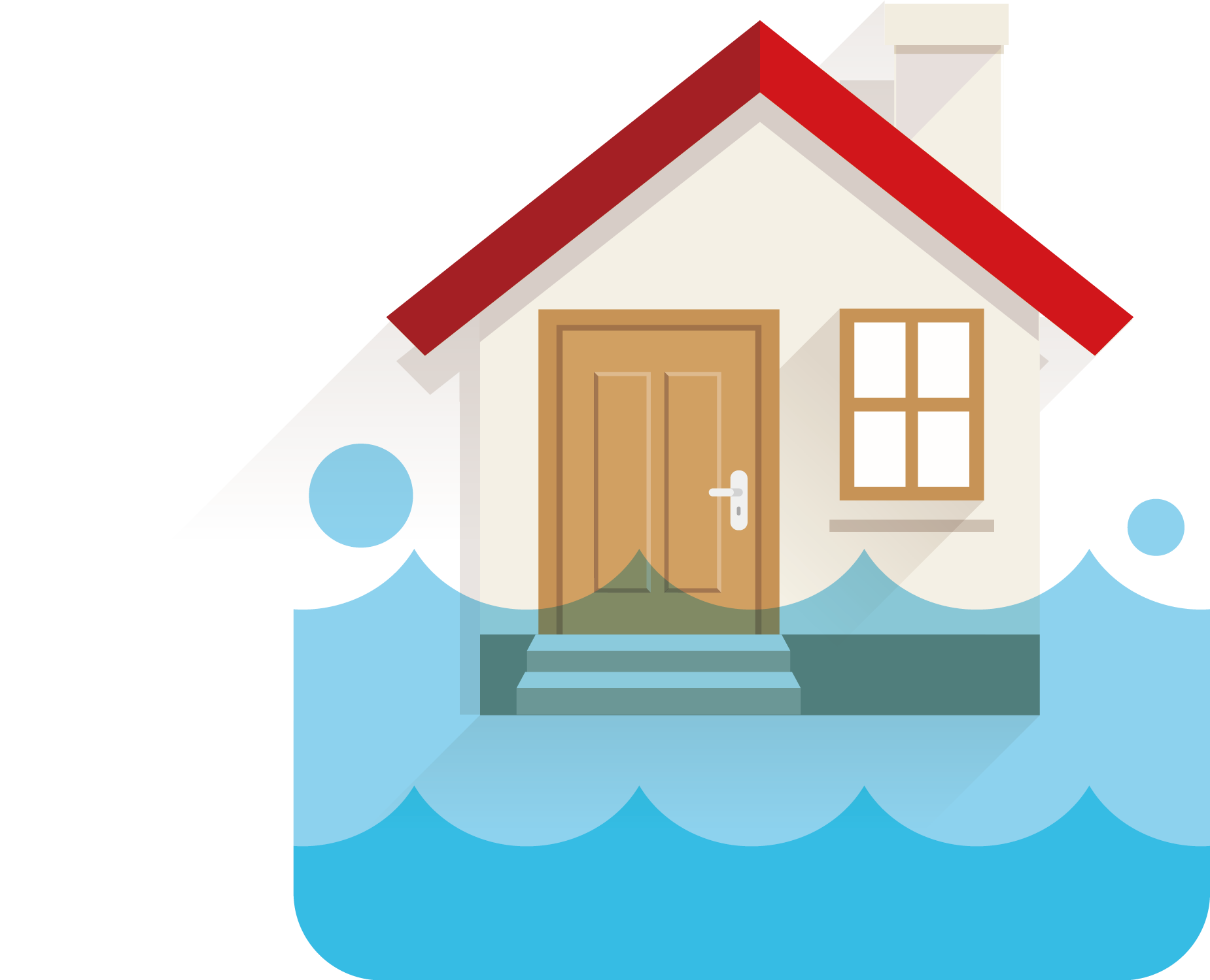 Flood water damage wesmor. Earthquake clipart home thing