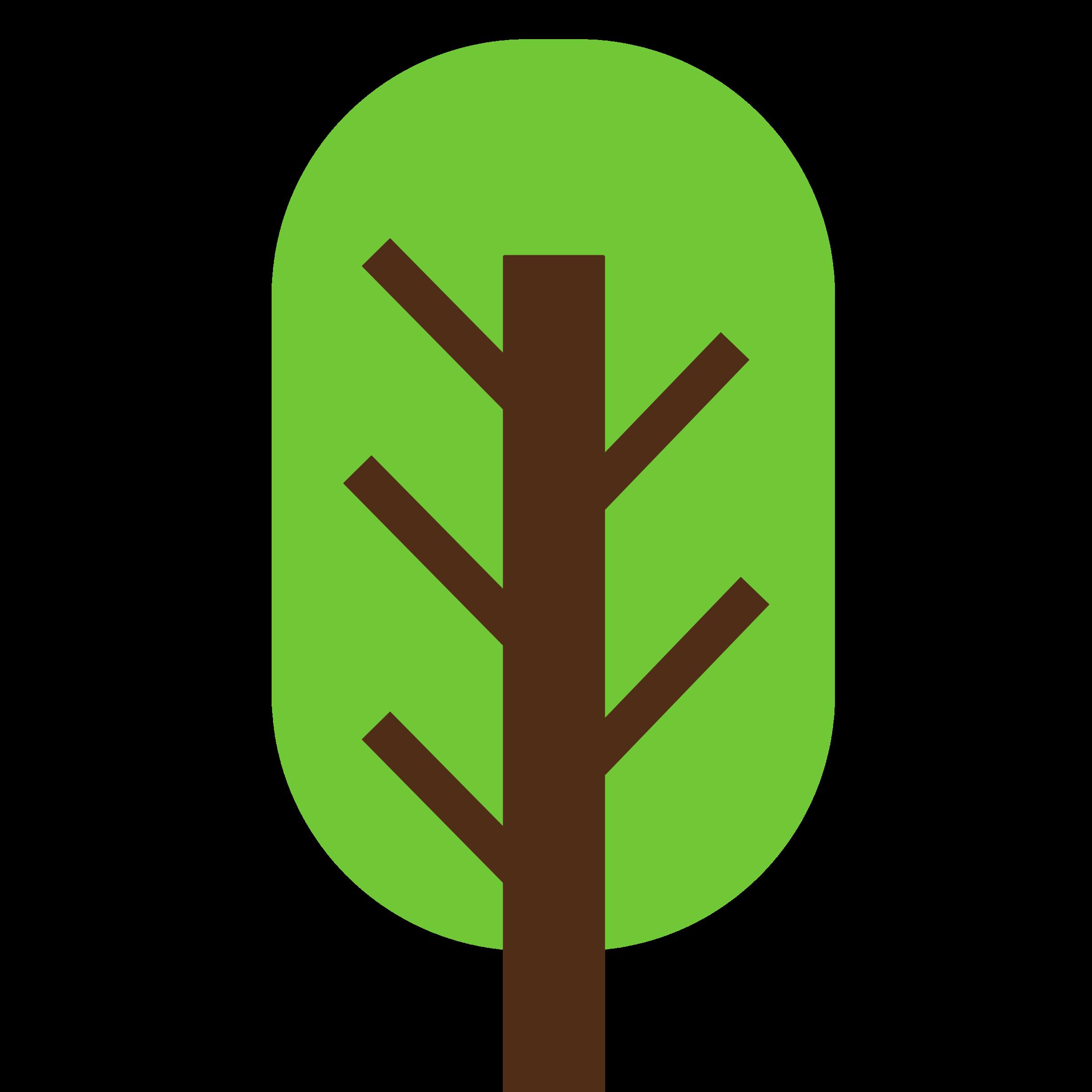 Square squarish and geometric. Color clipart tree