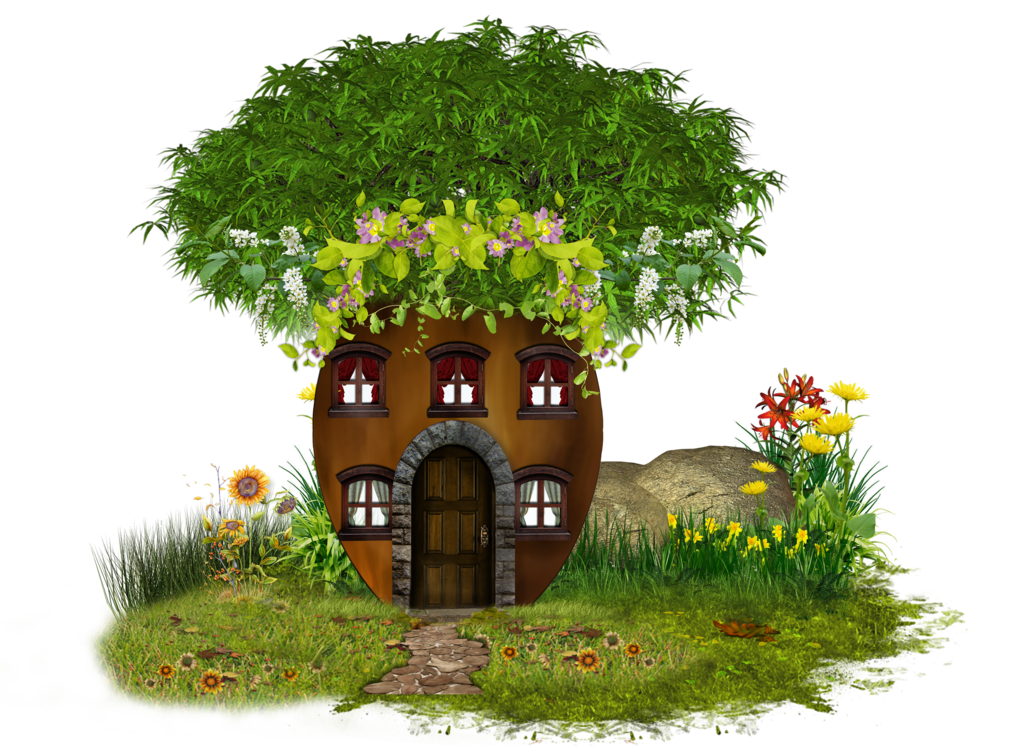 Grass clipart house. Png tree by moonglowlilly
