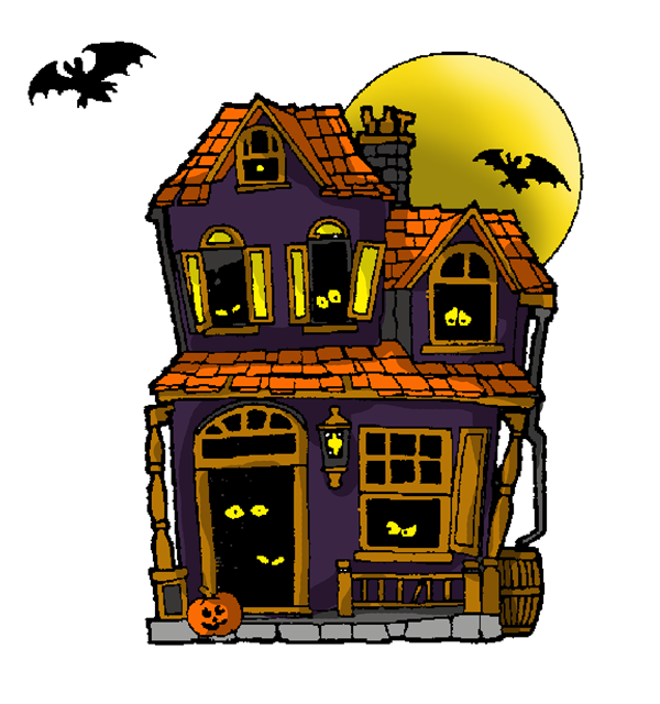 Door clipart haunted house. Png holiday art craft