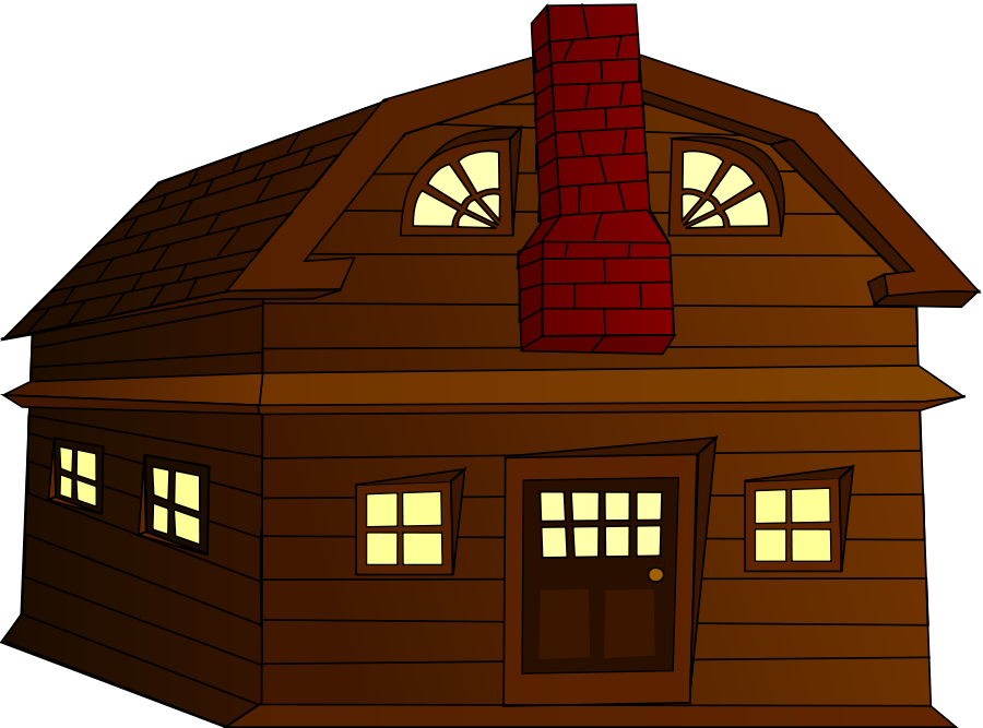 Doghouse clipart hut house. Wooden houses clipground wood