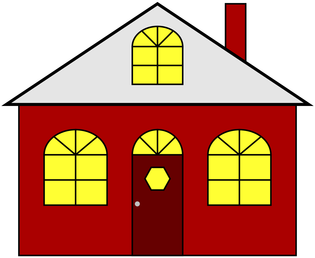 Clipart houses lights. Home free clip art