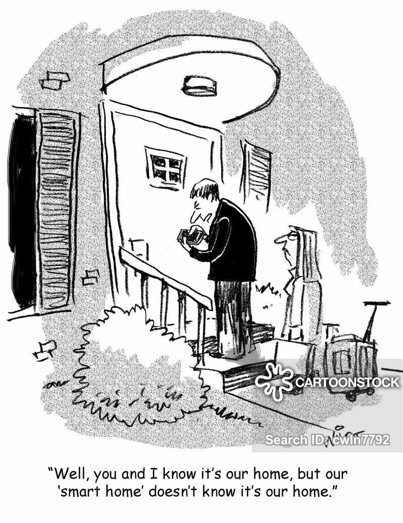 Out cartoons and comics. Houses clipart locked