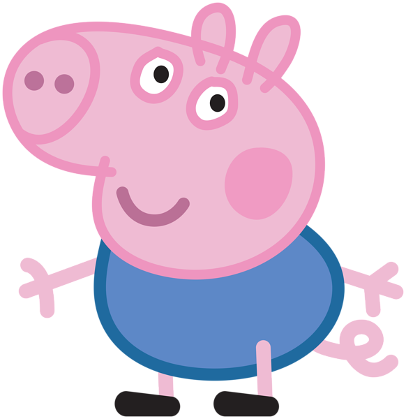 George transparent png image. Clipart houses peppa pig