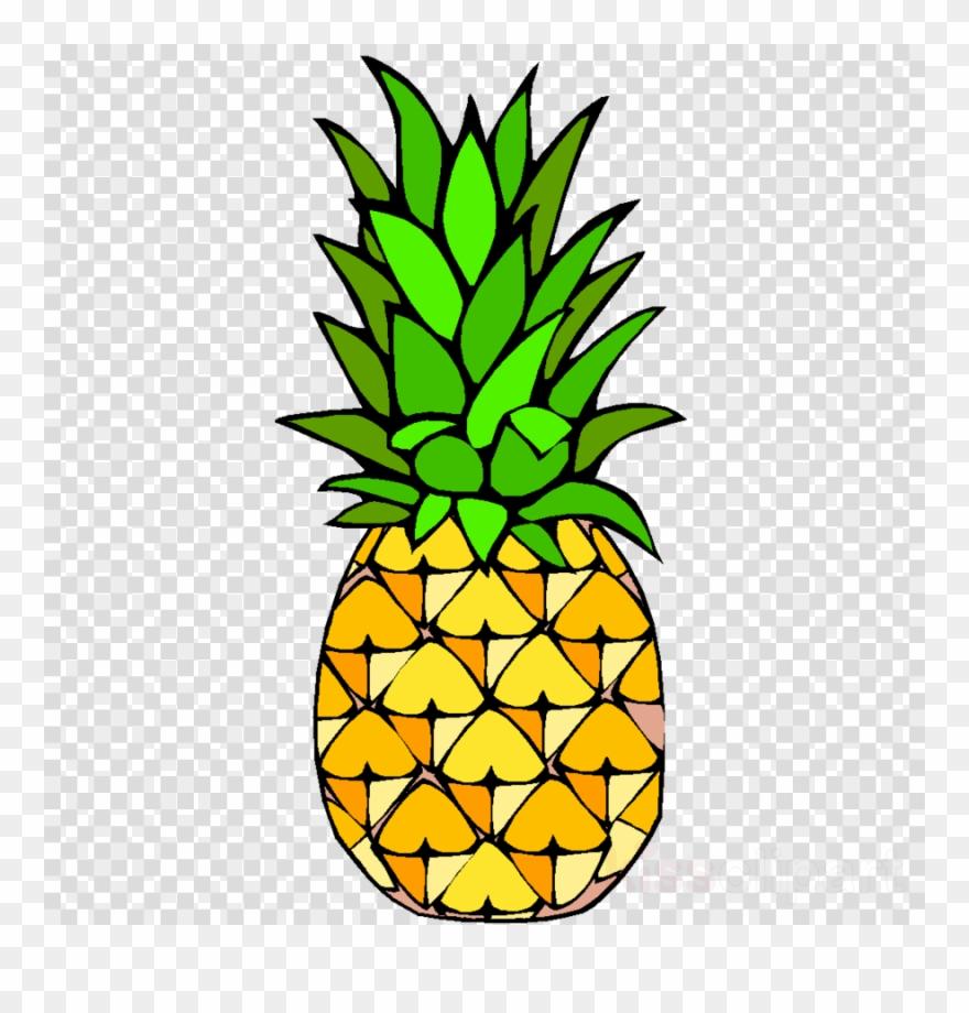 Ananas fruit plant bromeliaceae. Pineapple clipart head