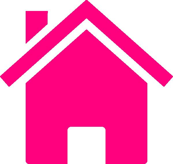 House clip art vector. Heat clipart pink wedding
