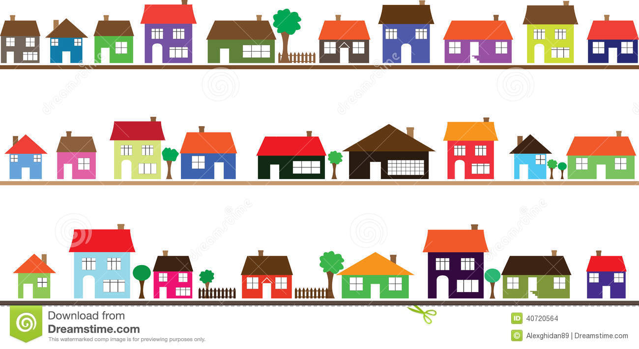 Houses clipart row. Station