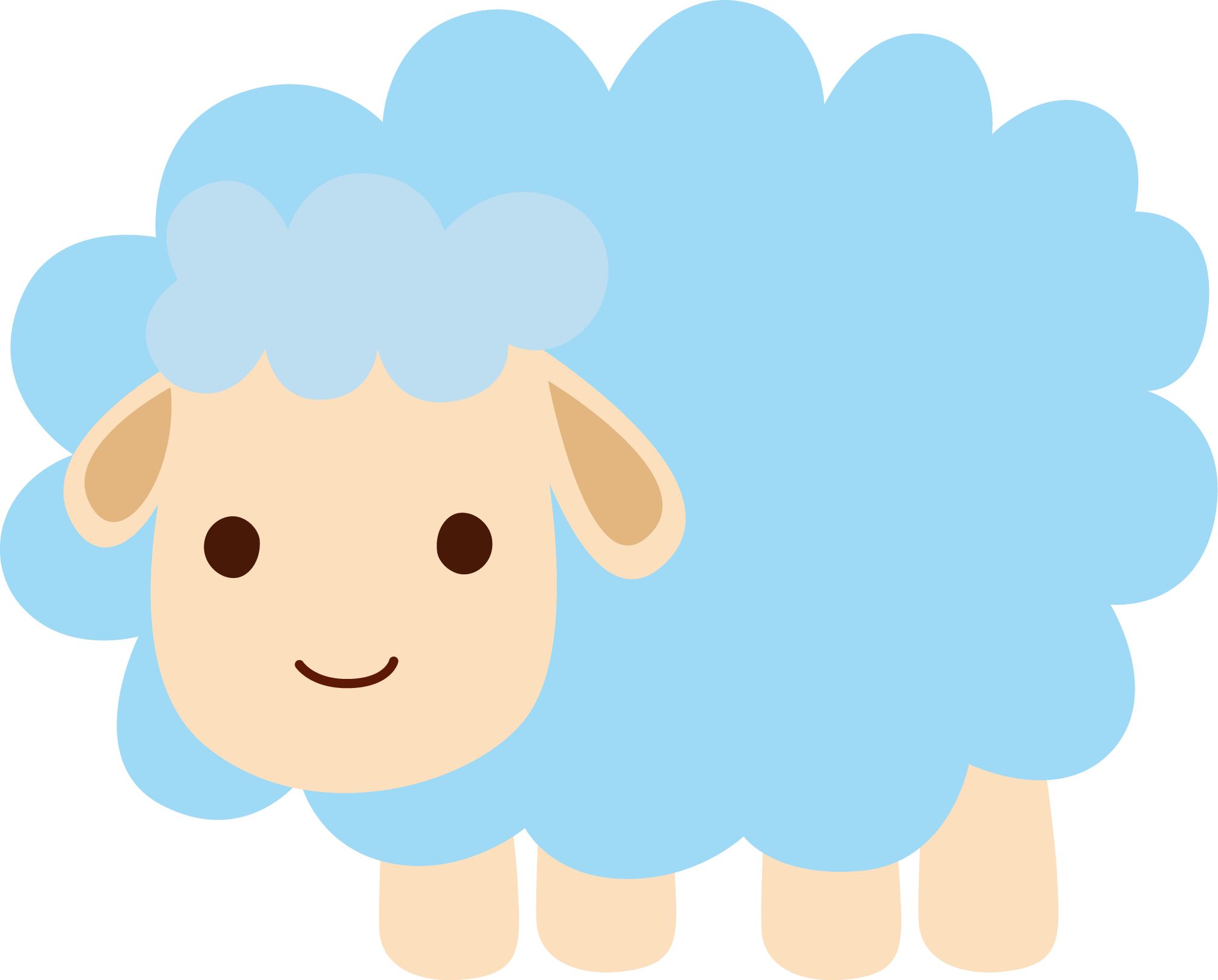 clipart sheep baby shower