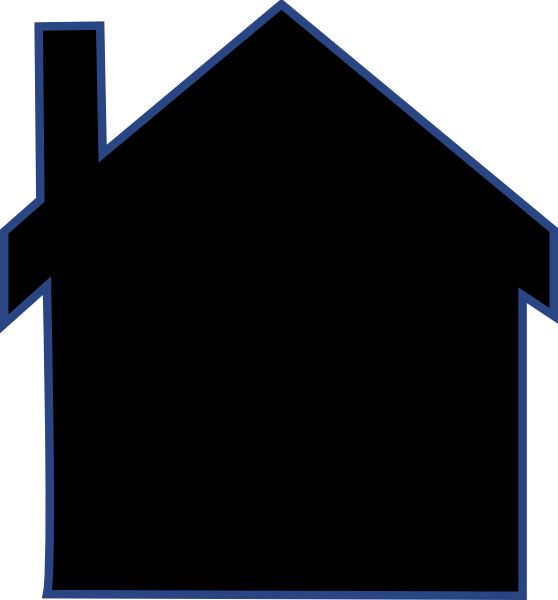 Clip art at clker. House clipart silhouette