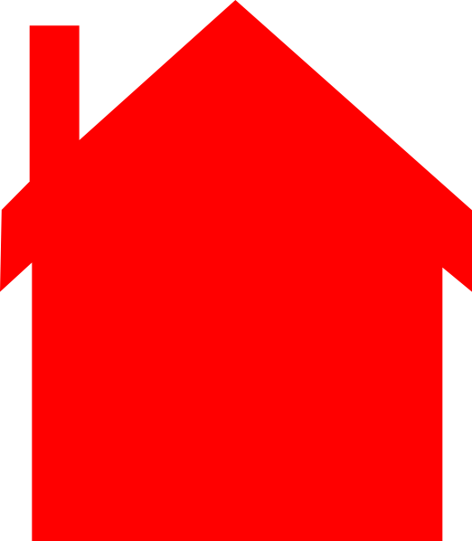 Red house clip art. Houses clipart silhouette