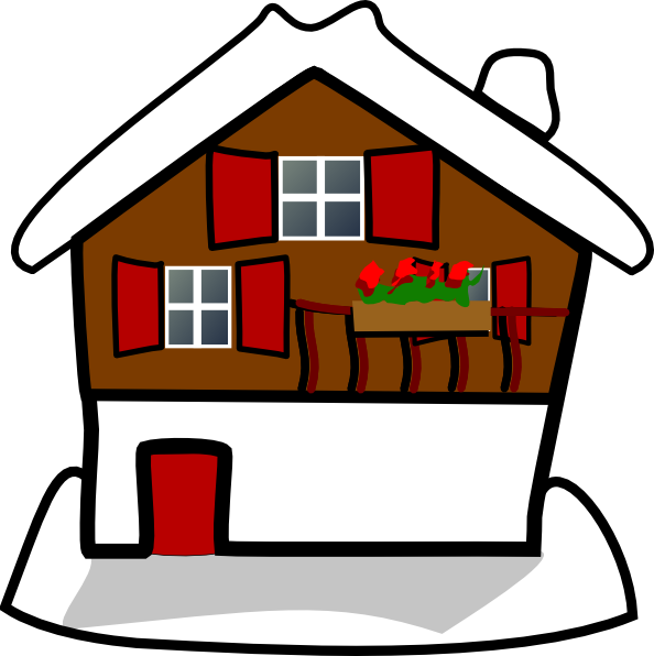 Houses clipart snowing. Snow winter house pencil