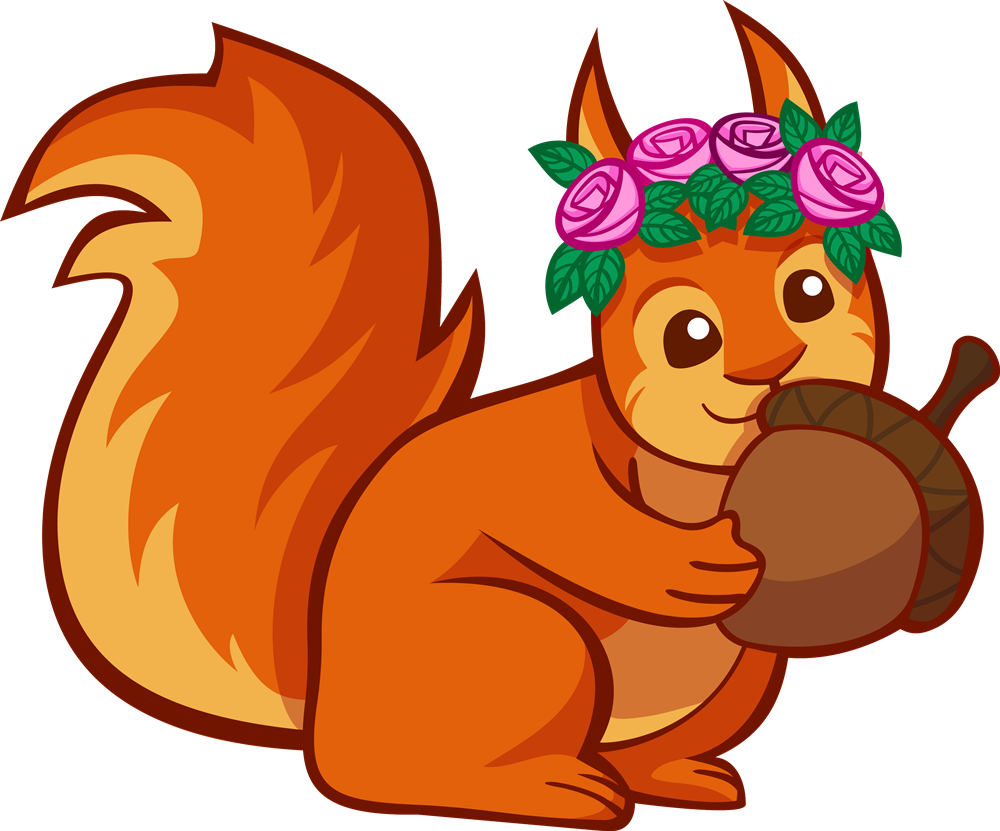 Nut clipart cute. Squirrel images group free