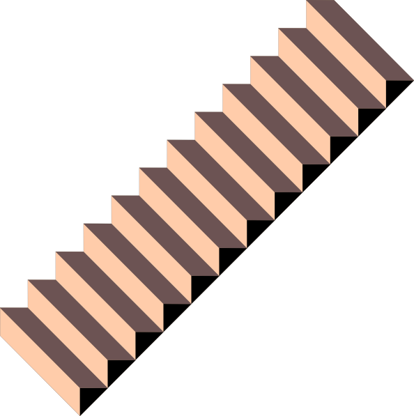 Staircase clipart outline. Stairs clip art at