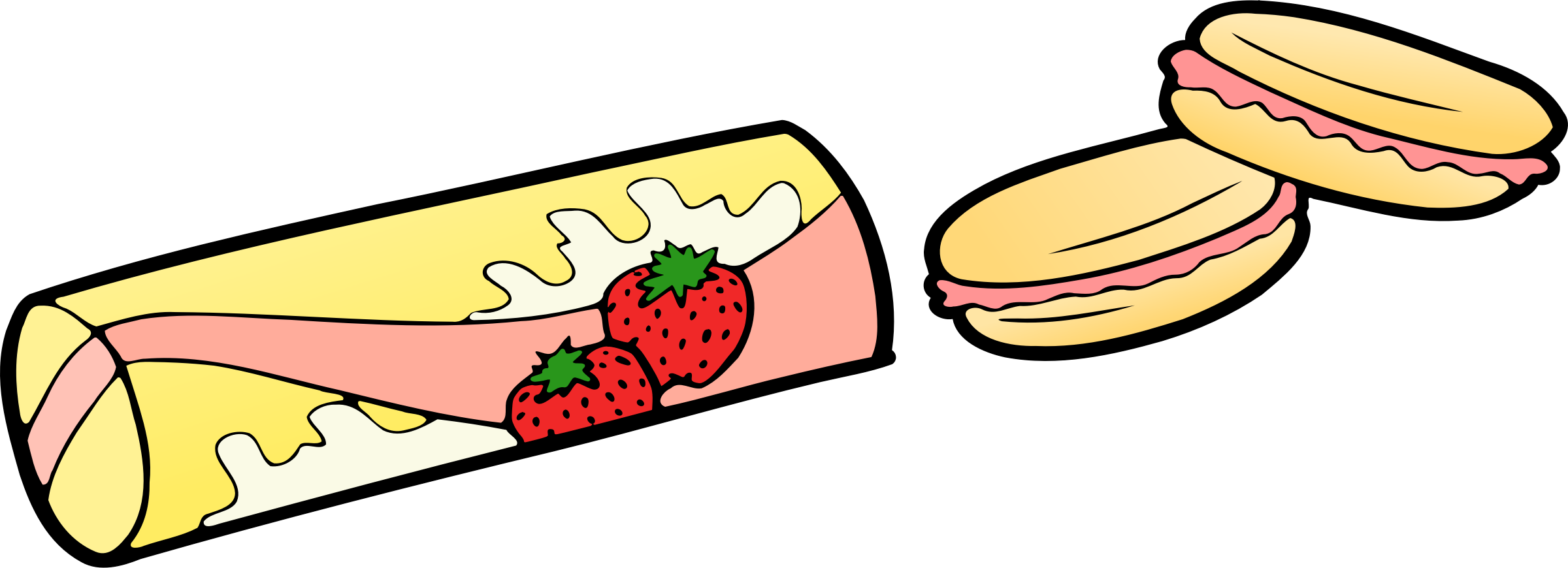 Strawberries clipart outline. Strawberry snack icons png
