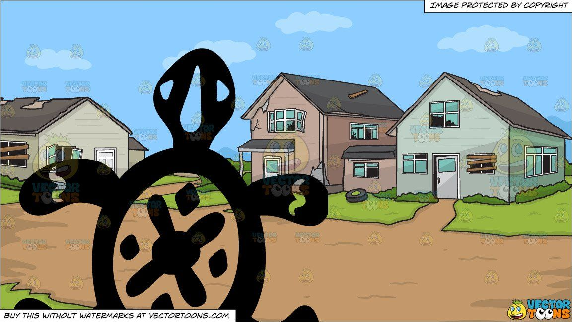 Houses clipart turtle. Cartoon a primitive art