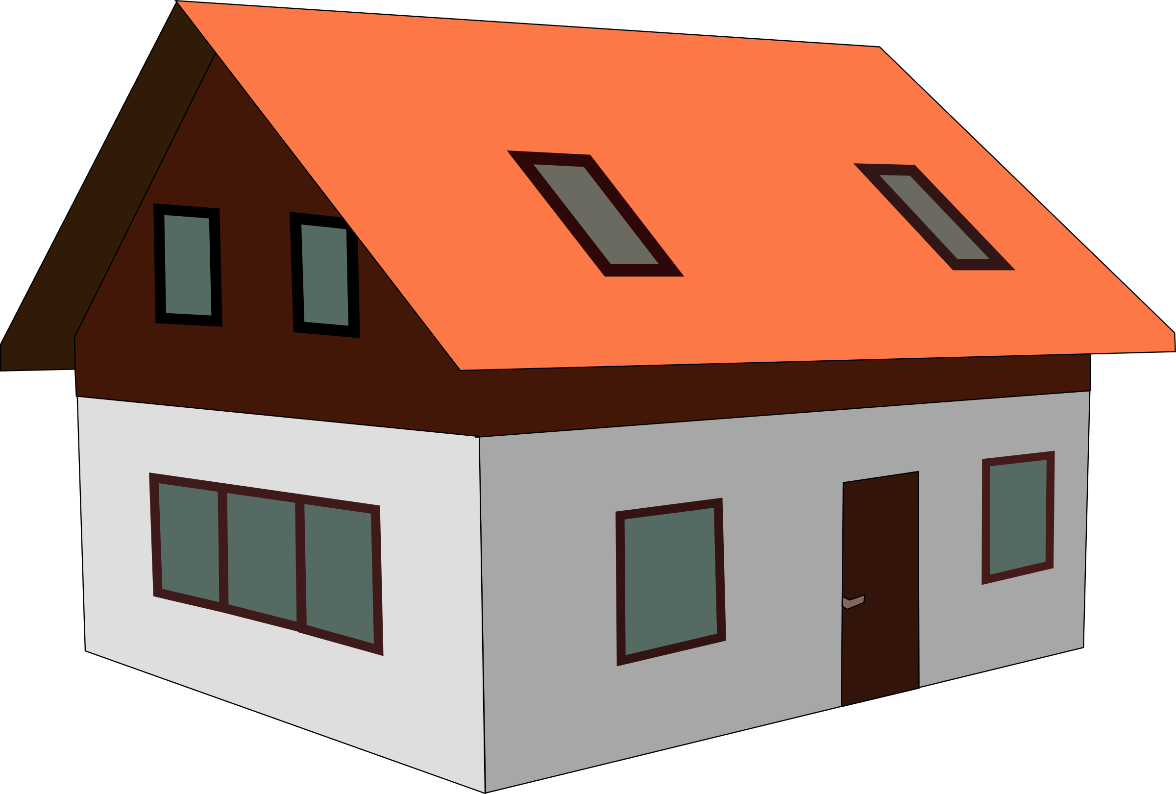 collection of sloping. Clipart houses vector