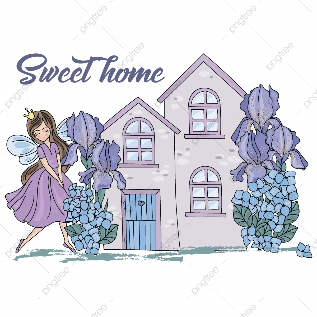 Houses clipart wedding. Elements design for