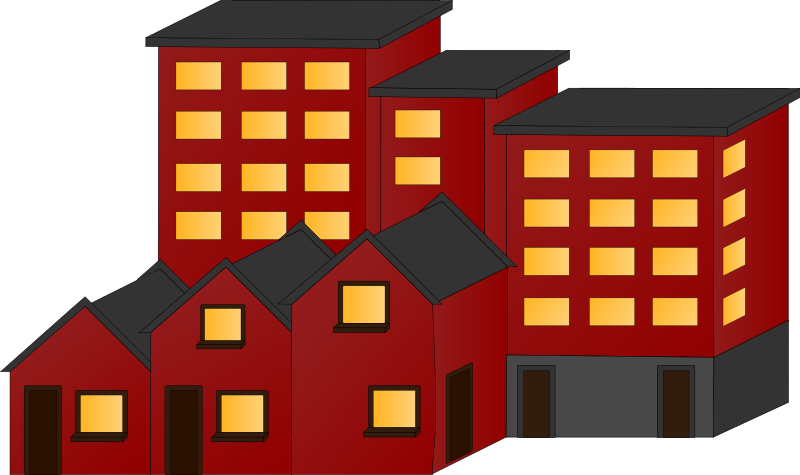 Apartment clipart apartment home. Houses clipground clip art
