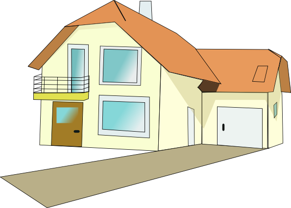 Clipart houses yard. Free home garage cliparts