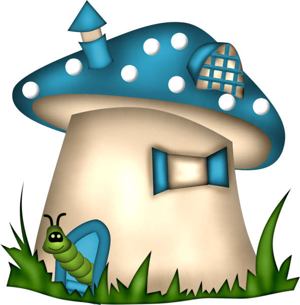 Mushrooms clipart sweet home. Mushroom house fantasy gnomes