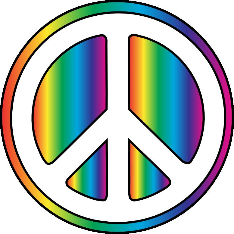 Peace sign clip art. Hippie clipart nihilism