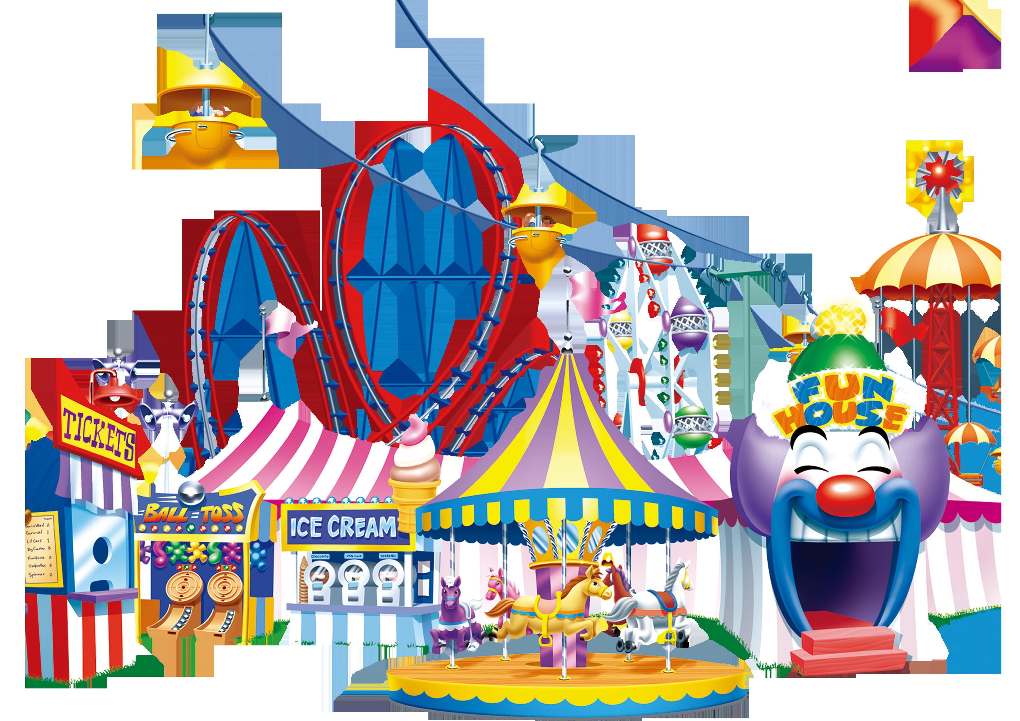 Carousel amusement park happy. Ticket clipart ride